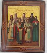 A Russian Icon Painting of 7 Saints