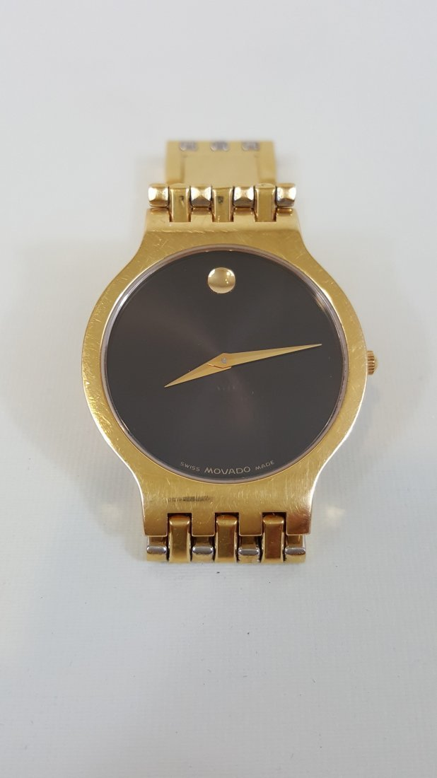 A Movado Esperanza Gold-Tone All Steel Quartz Men's