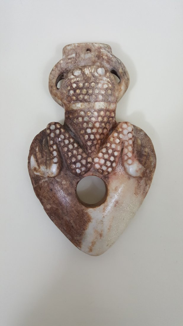 A Frog Nephrite Carving Trophy Ax