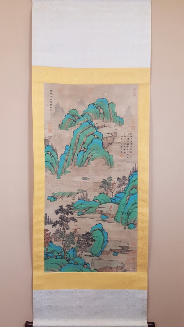An original hand painted watercolor in frame of - 4