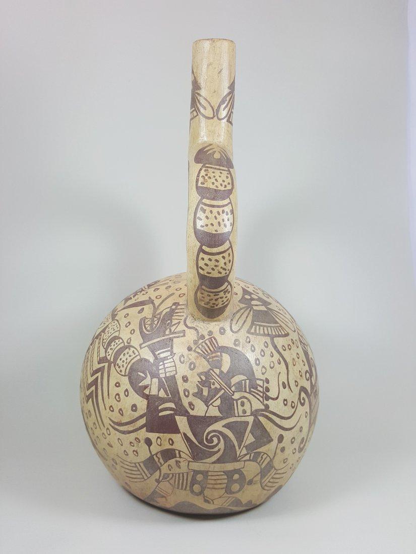 A stirrup-spouted Mochina vessel, ancient Peru - 2