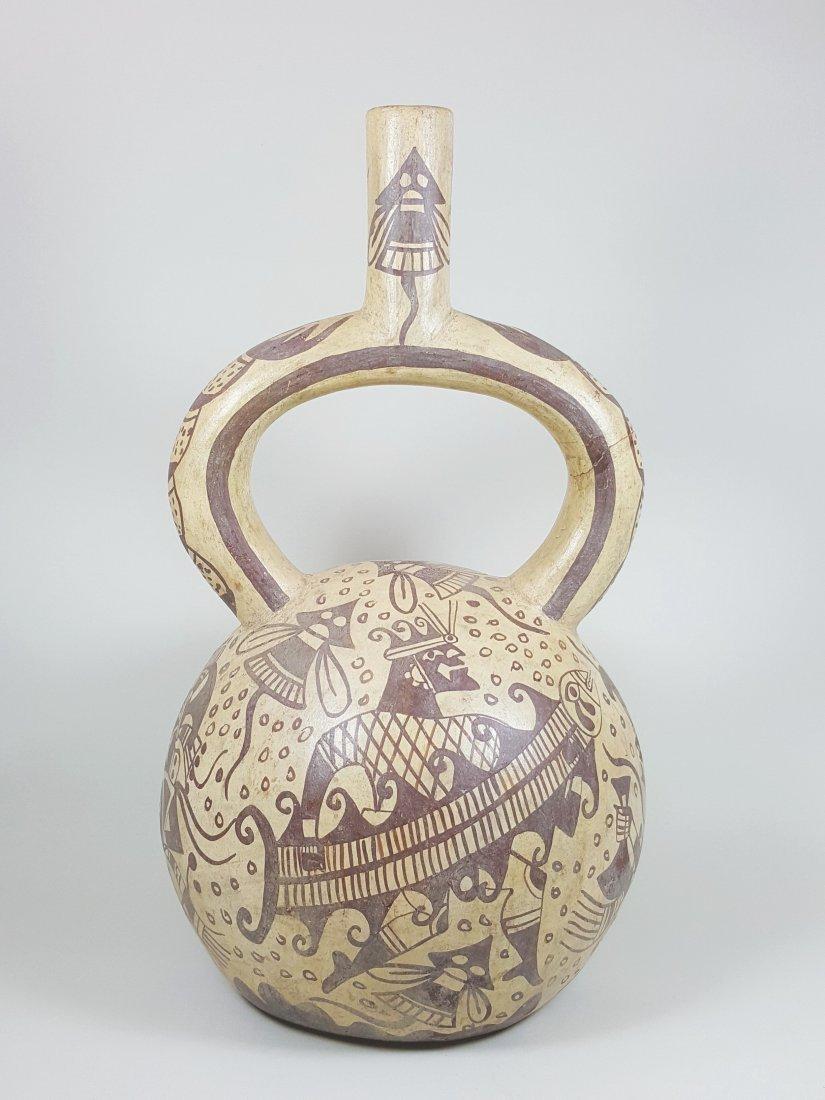 A stirrup-spouted Mochina vessel, ancient Peru - 3