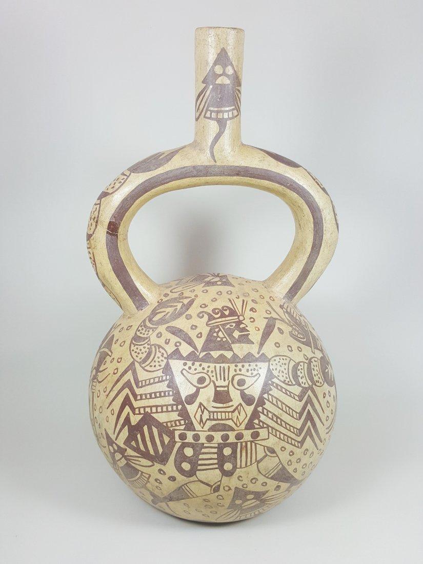 A stirrup-spouted Mochina vessel, ancient Peru - 4
