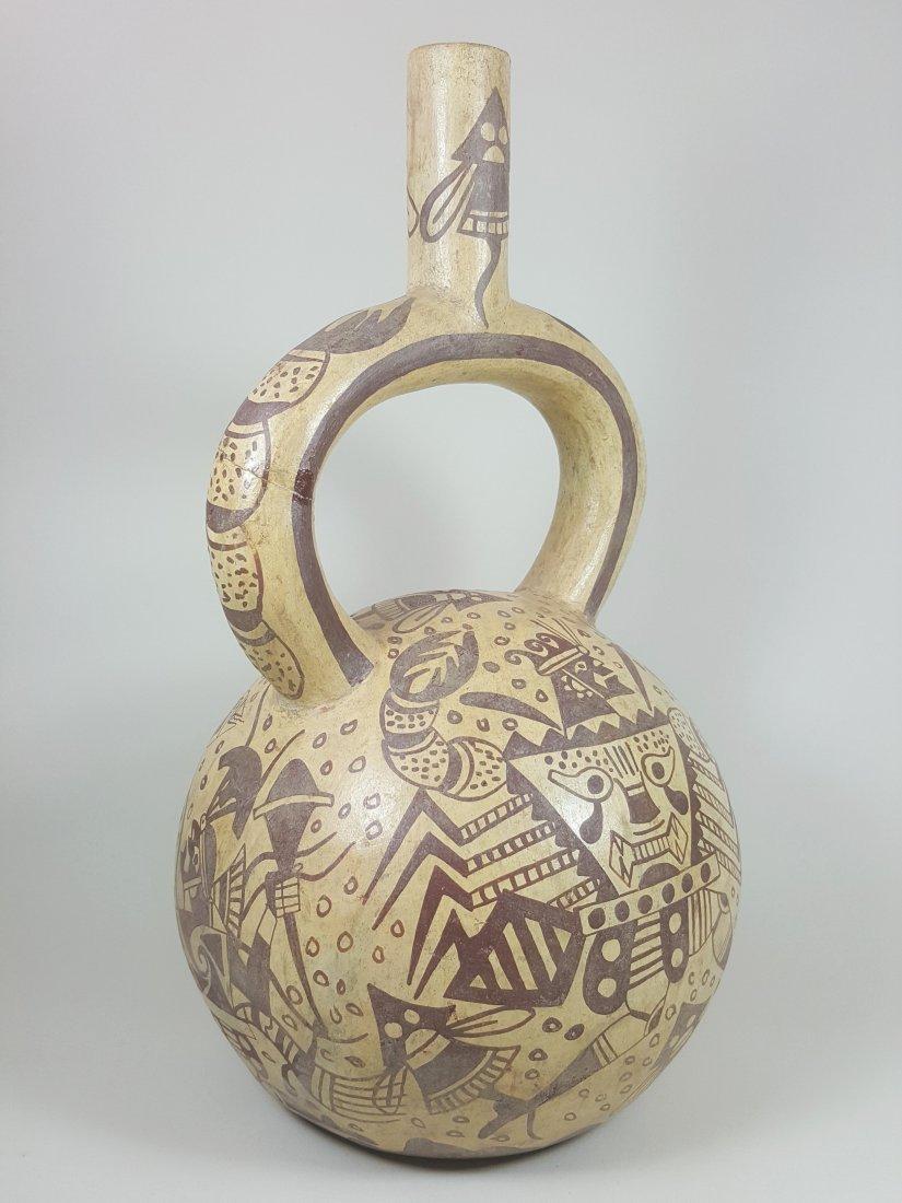 A stirrup-spouted Mochina vessel, ancient Peru - 6