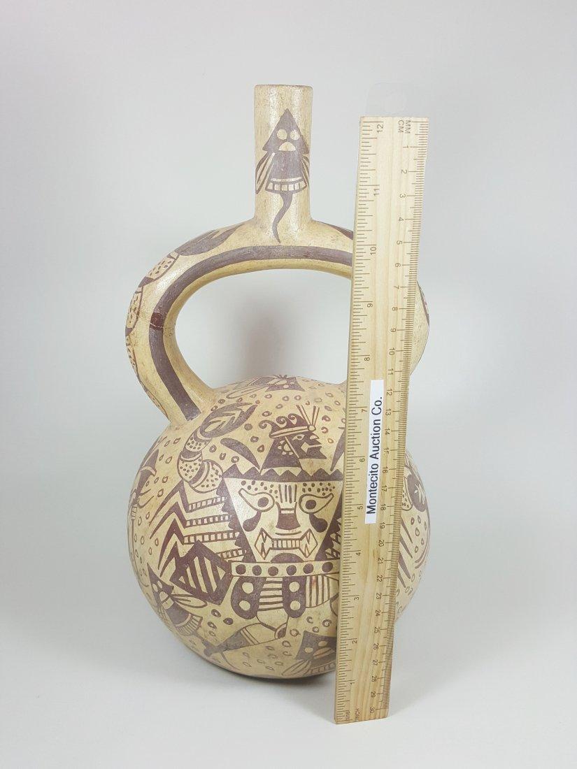 A stirrup-spouted Mochina vessel, ancient Peru - 8