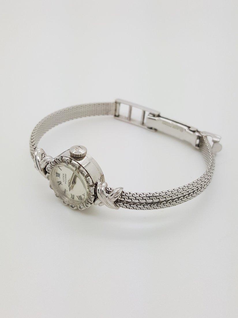 A vintage Lucien Piccard 14k ladies diamond wrist watch - 2