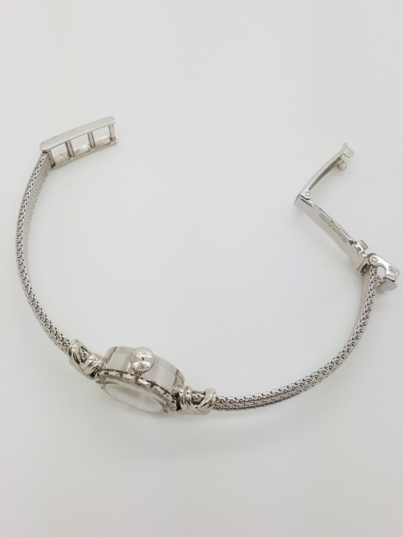 A vintage Lucien Piccard 14k ladies diamond wrist watch - 5