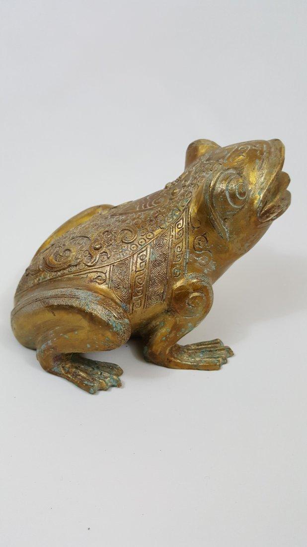 A Tang Dynasty  Gilt Bronze Frog - 5