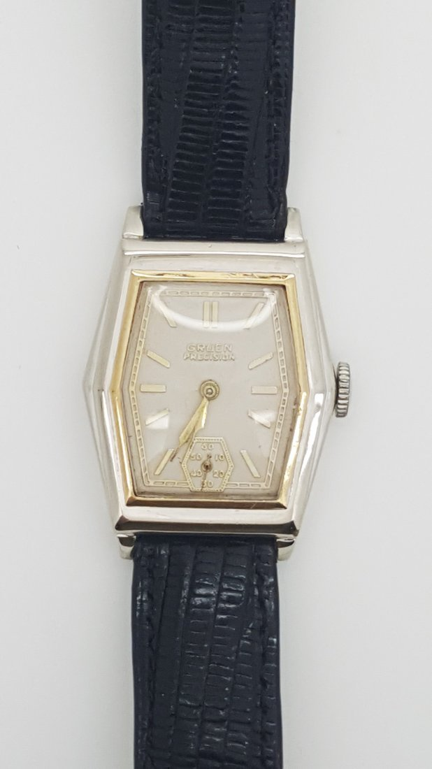 A vintage Gruen Precision gold filled manual wrist - 4