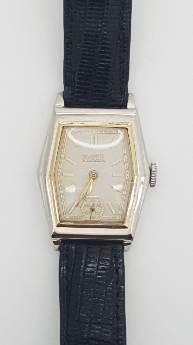 A vintage Gruen Precision gold filled manual wrist - 4