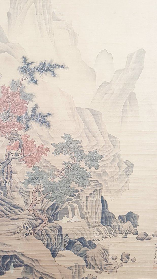 A vintage Chinese painting hanging scroll