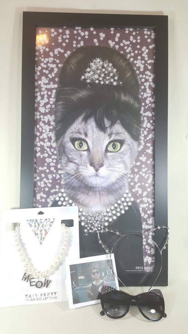 Breakfast at Tiffany's Print (Cat Rendition)
