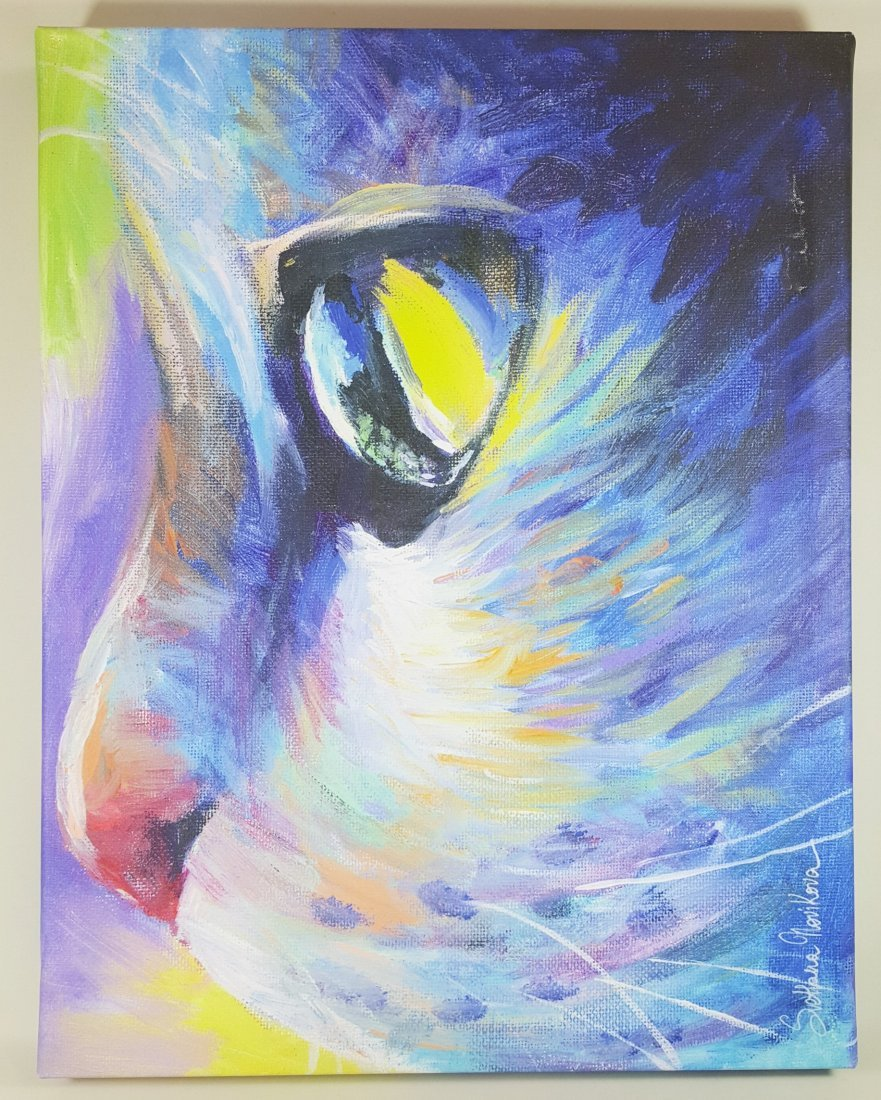 Svetlana Novikova's Dreamer Cat Gallery-Wrapped Canvas