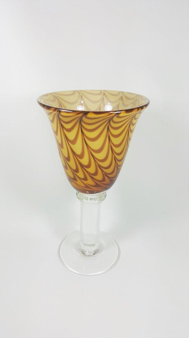 An art glass goblet