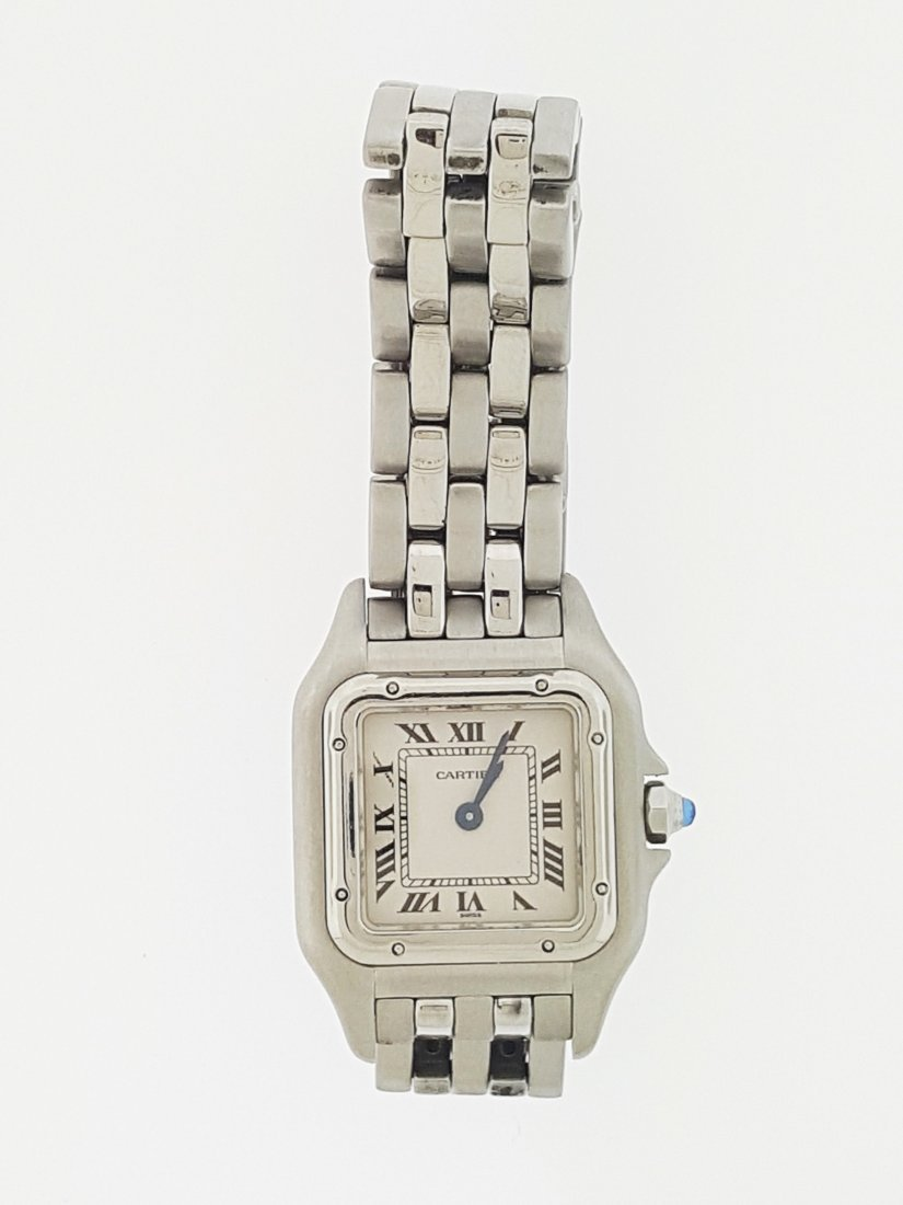 A Cartier stainless steel ladies watch