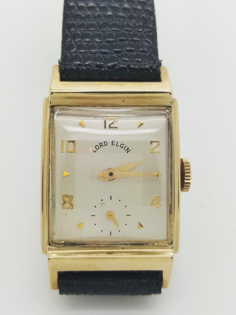 A signed Lord Elgin 10k gold filled vintage men's watch