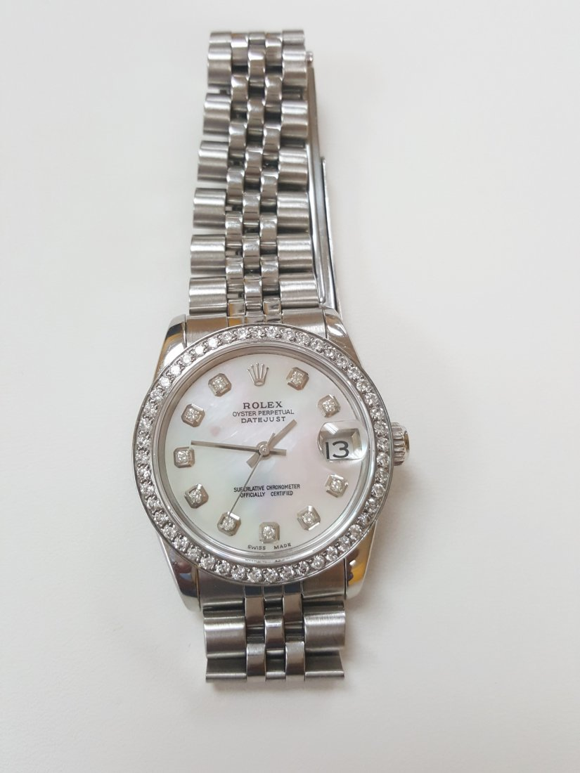 A Rolex Datejust midsize Jubelee band