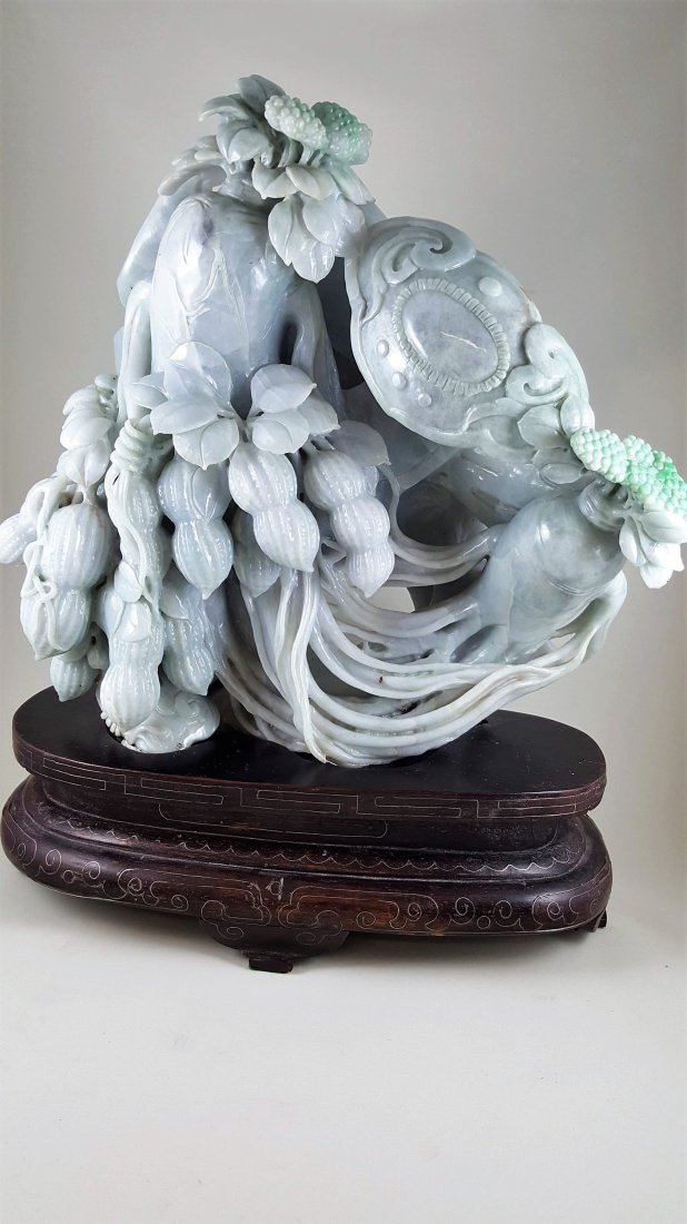 A Jadeite Carving of Peanuts, Emblems and Rooted