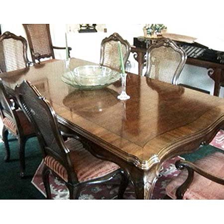 2: Karges walnut extension dining table