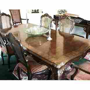 8 Karges Venetian style walnut dining chai