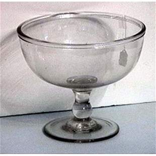 Colorless blown glass centerbowl
