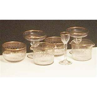 6 wine rinsers & finger bowls, 8 supremes
