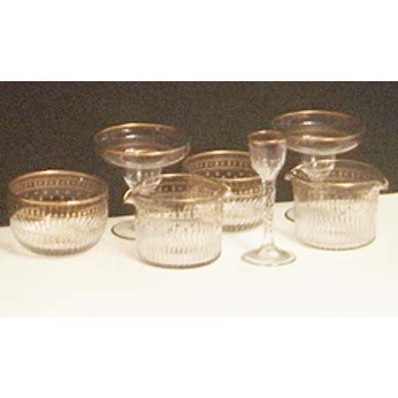 14: 6 wine rinsers & finger bowls, 8 supremes