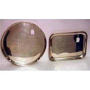 Two Cartier sterling silver trays