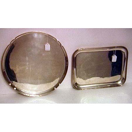 16: Two Cartier sterling silver trays