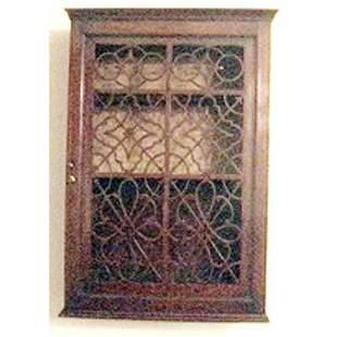 George III mahogany hanging cabinet
