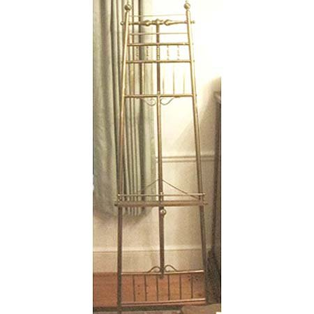 22: Victorian brass and oak easel