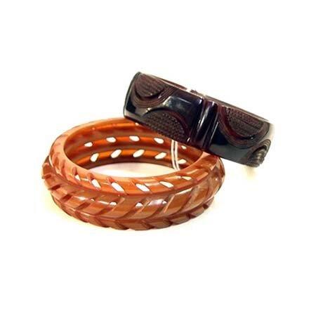 11: Two brown Bakelite bangles