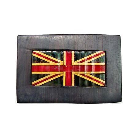41: Rare Union Jack Bakelite pin