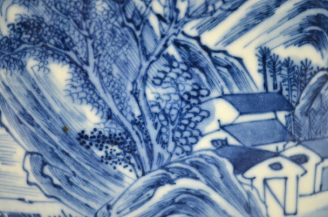 Chinese Blue & White Brush Pot - 6