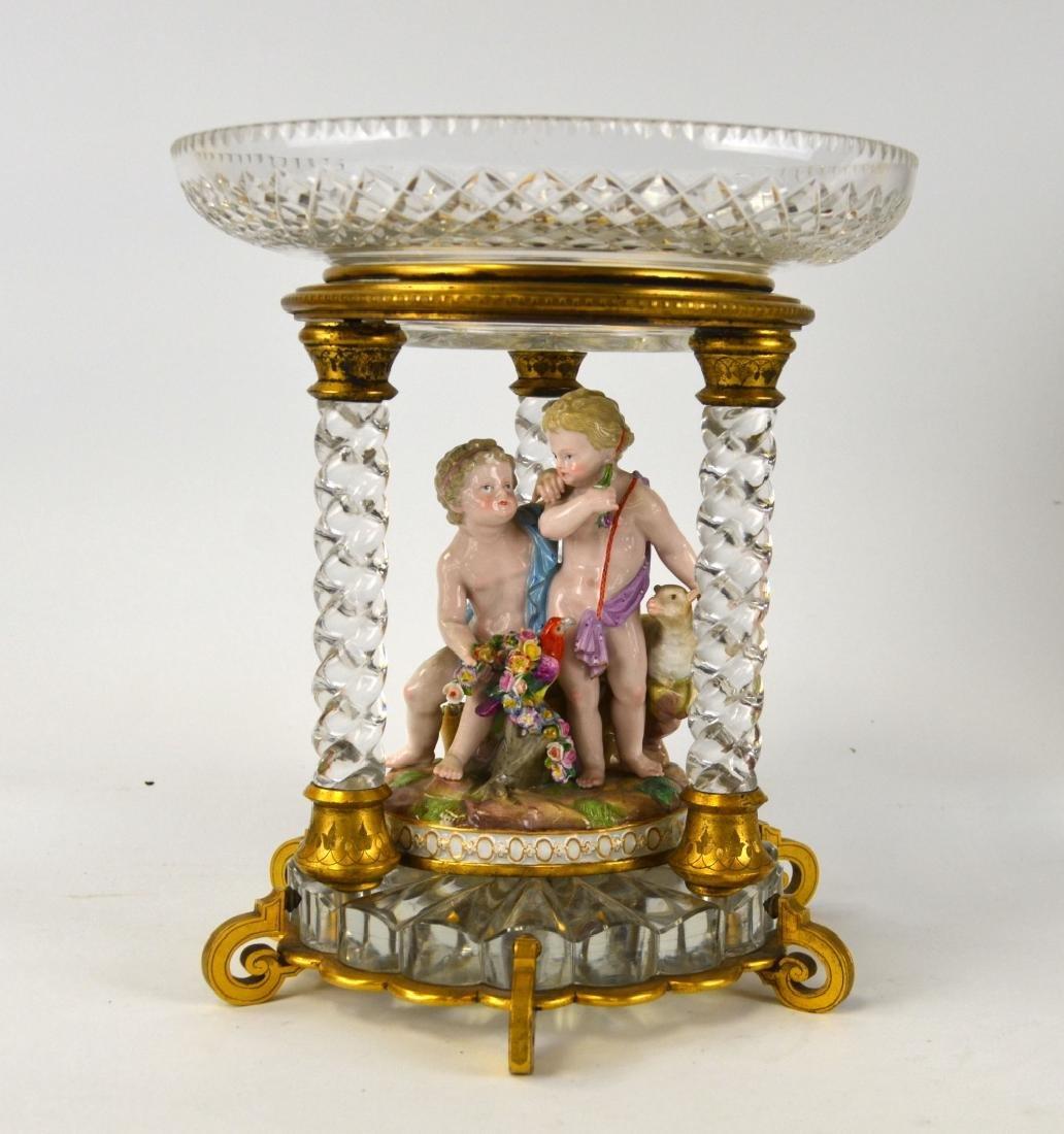 Meissen & Baccarat Centerpiece