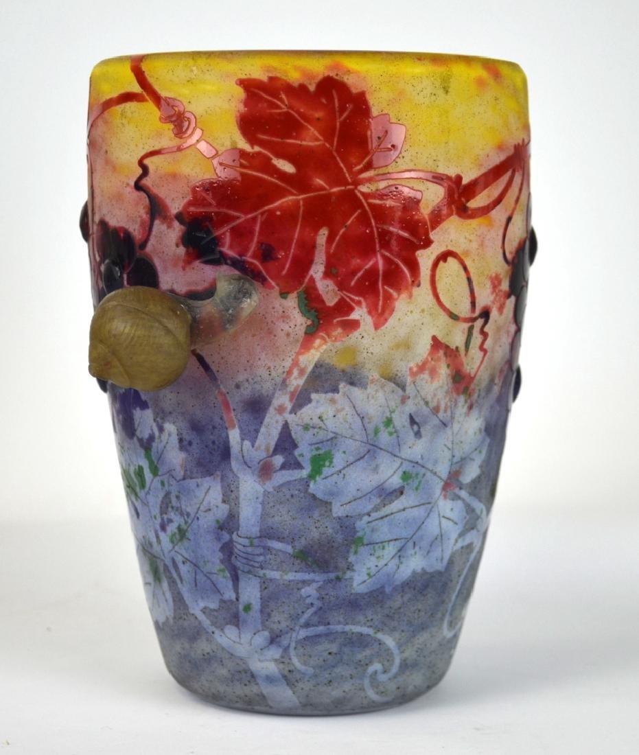 Rare Daum Nancy Snail  Vase
