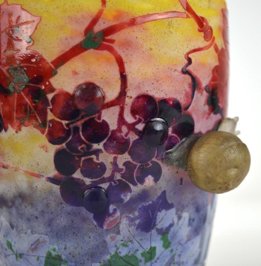 Rare Daum Nancy Snail  Vase - 2