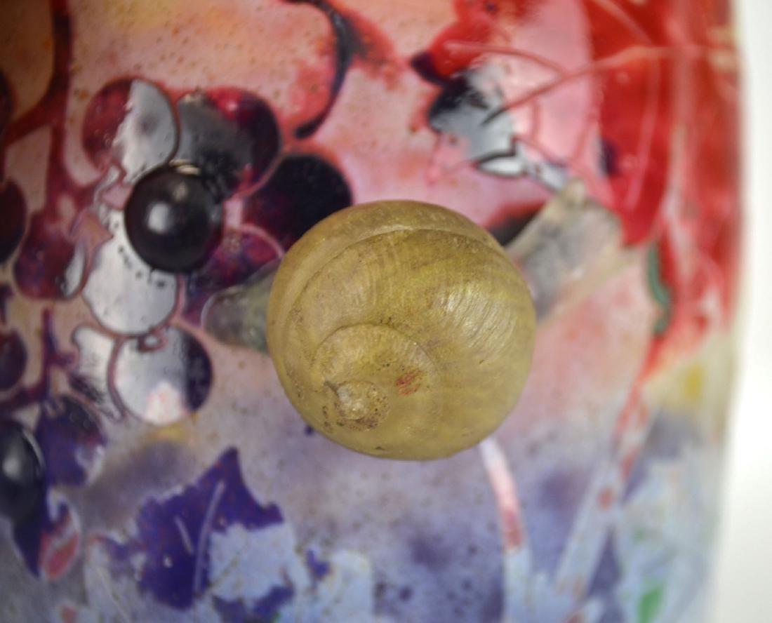 Rare Daum Nancy Snail  Vase - 3