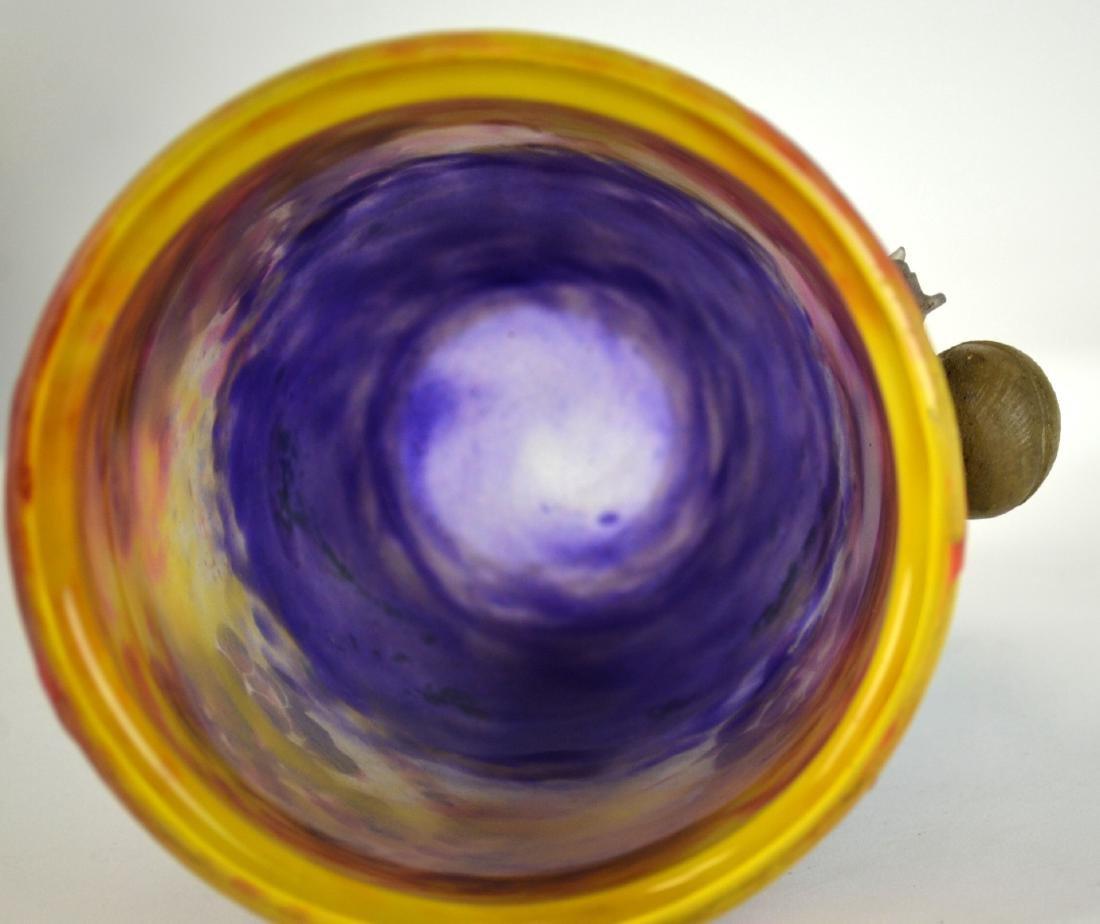 Rare Daum Nancy Snail  Vase - 7