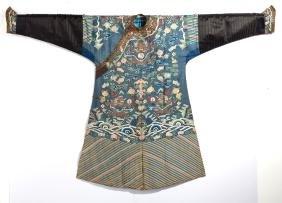 Chinese Blue Dragon Robe
