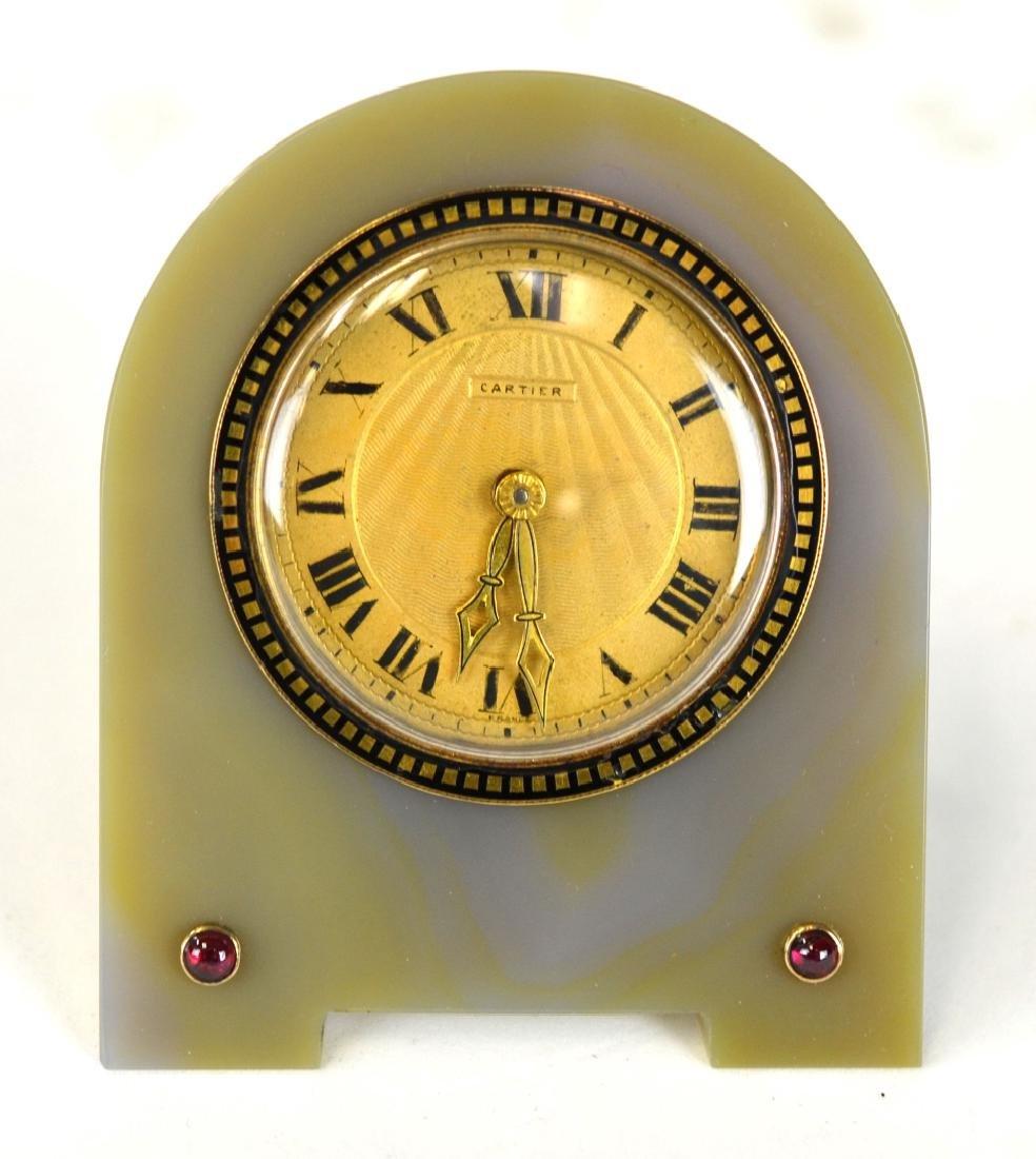 Cartier Gold & Onxy Table Clock