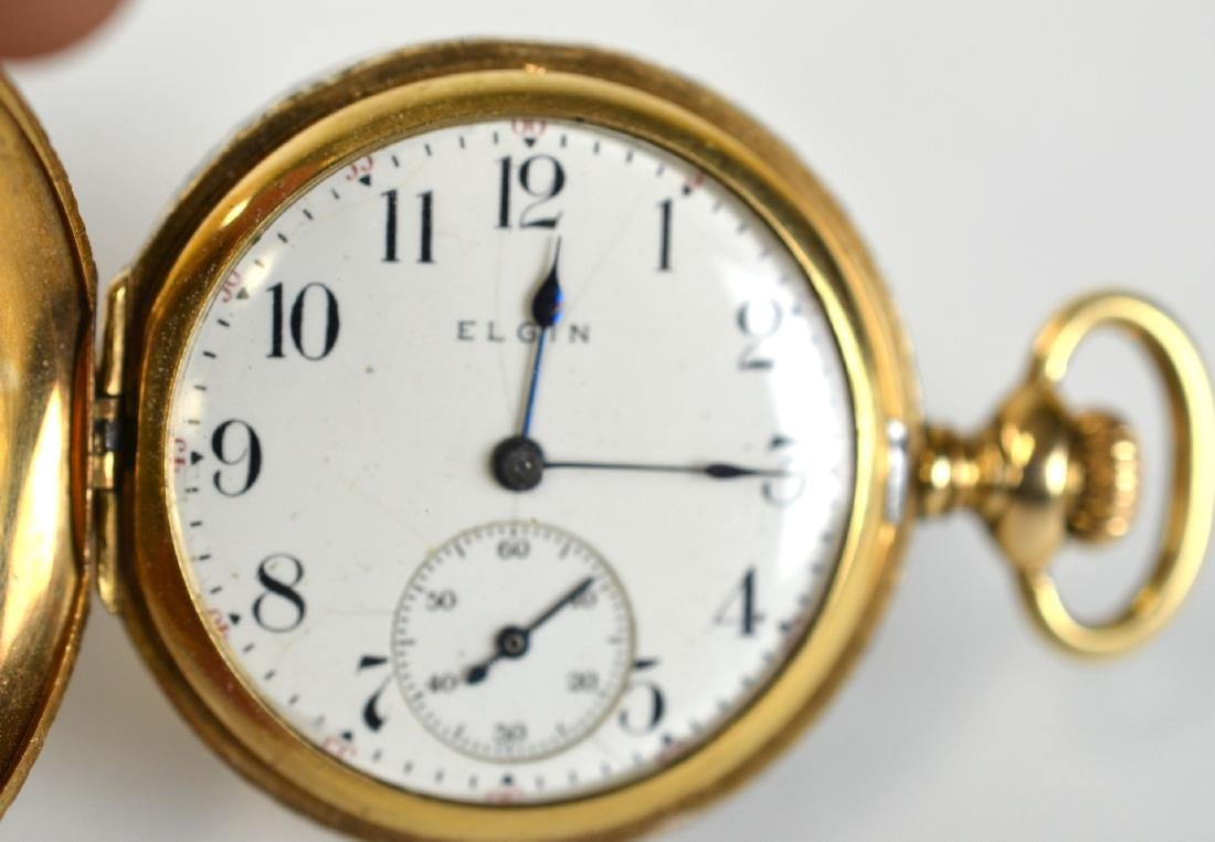 14K Gold Elgin Small  Pocket Watch - 2