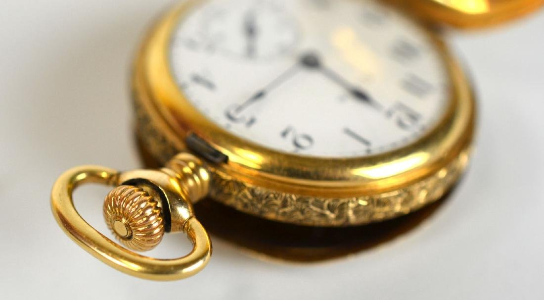 14K Gold Elgin Small  Pocket Watch - 5