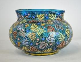 19th Cen. Moser Art Glass Vase