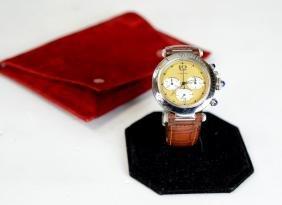 Cartier Pasha Men's Watch W Leather Strap