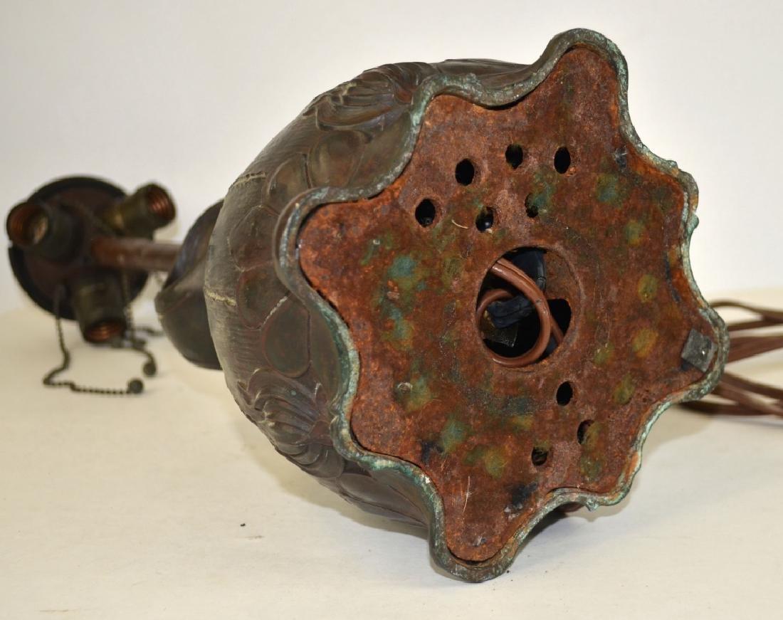 Art Noveau Handle Lamp - 6