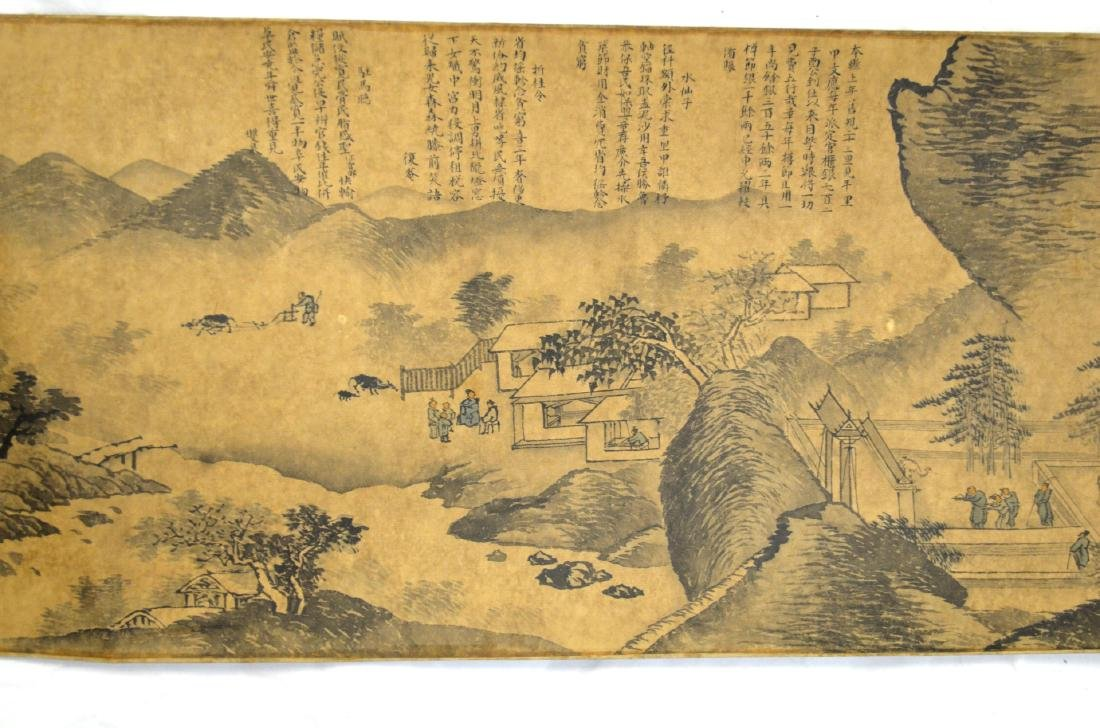 Long Chinese Painting Scroll - 5