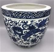 Chinese Blue & White Jardiniere