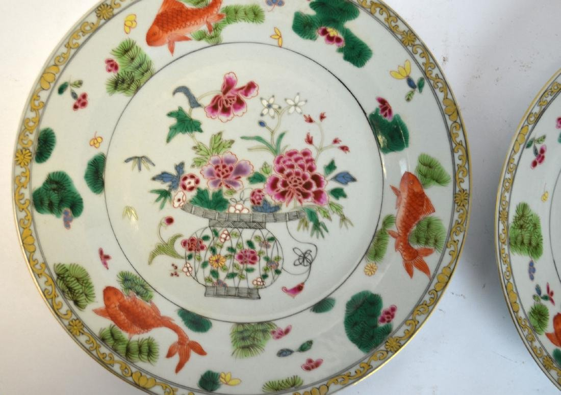 Pr Chinese Famille Rose Plates - 2