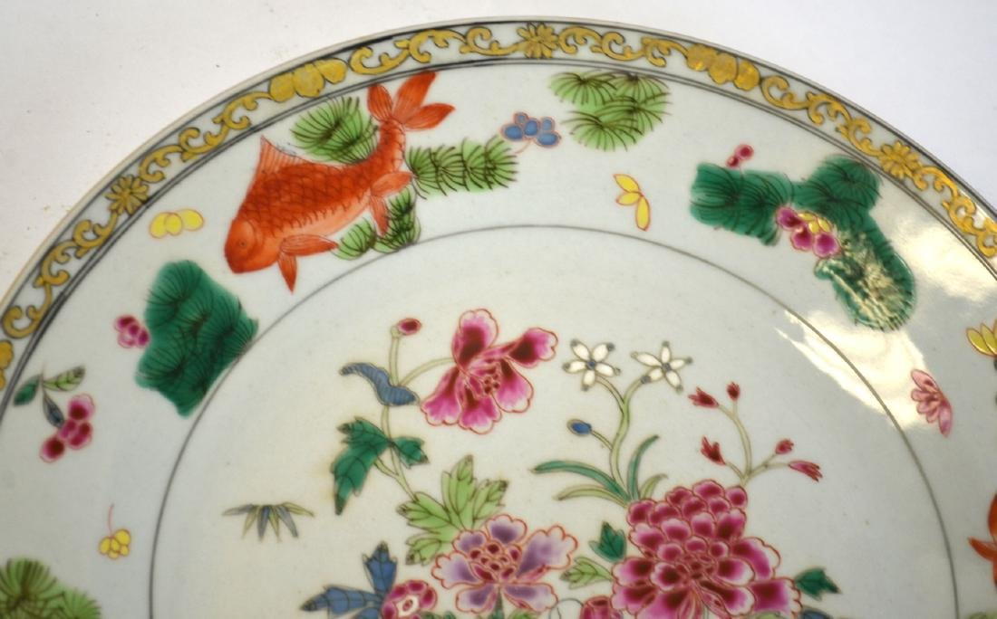 Pr Chinese Famille Rose Plates - 4